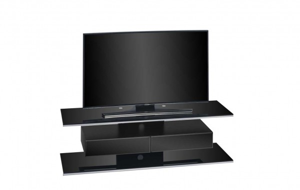 MAJA MEDIA 77289942 TV-Rack Schwarzglas