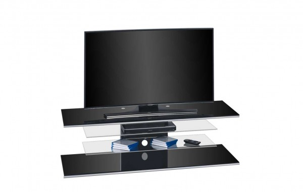 MAJA MEDIA 77259942 TV-Rack Schwarzglas