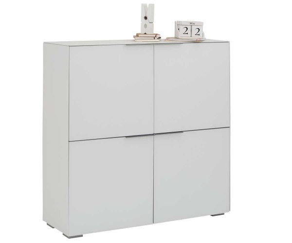 MAJA YES 15379936 Highboard Weißglas matt