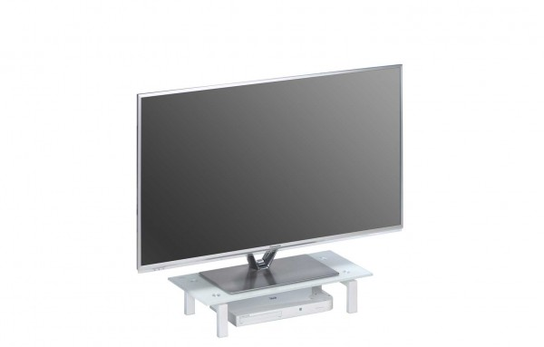 MAJA MEDIA 16029746 TV-Board Metall weiß - Weißglas