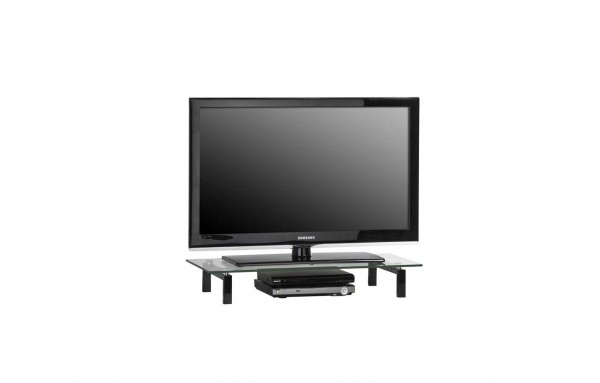 MAJA MEDIA 16039599 TV-Board Metall schwarz - Klarglas