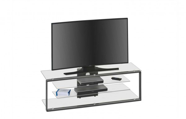 MAJA MEDIA 16139099 TV-Rack Metall anthrazit - Klarglas