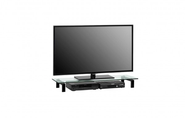MAJA MEDIA 16059599 TV-Board Metall schwarz - Klarglas