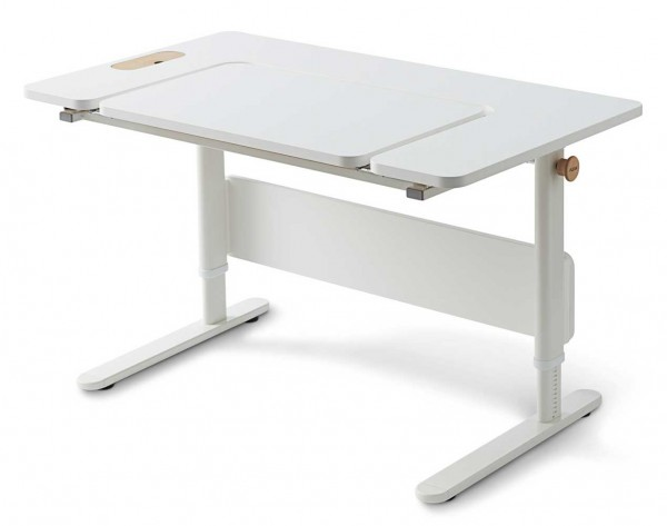 FLEXA MOBY Middle Up - Schülerschreibtisch 70x120x58/83cm full white