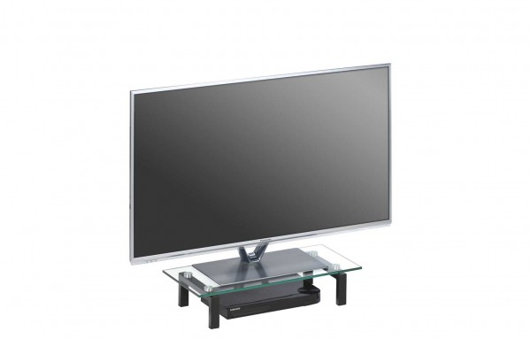 MAJA MEDIA 16029599 TV-Board Metall schwarz - Klarglas