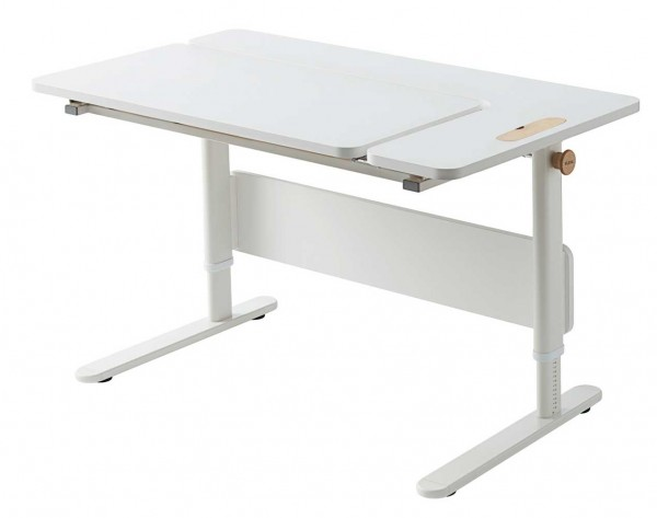 FLEXA MOBY Left Up - Schülerschreibtisch 70x120x58/83cm full white